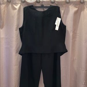 Ladies D. Morgan Black Pant Set Size 12 BNWT